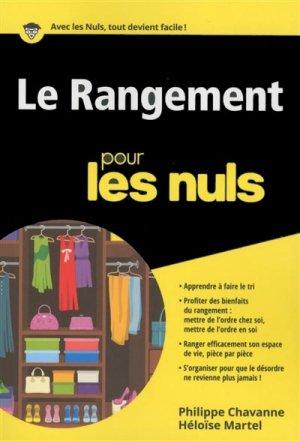 Le rangement pour les Nuls - first - 9782754089241 -