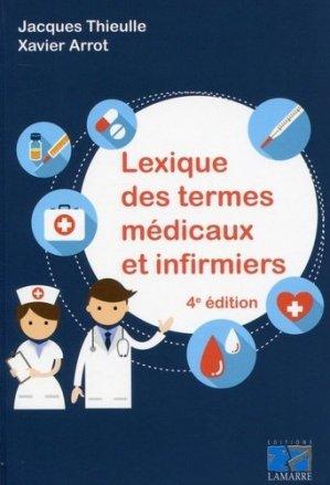 Lexiques des termes infirmiers - lamarre - 9782757307922 -