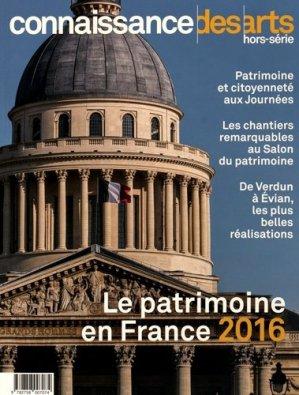 Le patrimoine en france 2016 - connaissance des arts - 9782758007074 -