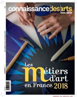 Les métiers d'art en France 2018 : les Journées des métiers d'art et les gestes de demain - connaissance des arts - 9782758008125