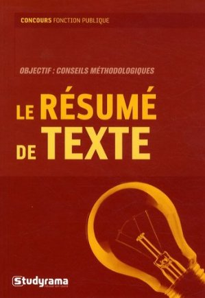 Le resumé de texte - Studyrama - 9782759007868 -