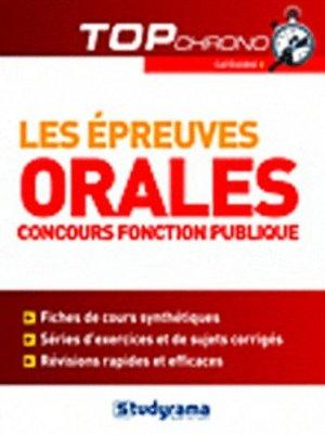 Les épreuves orales. Concours fonction publique catégorie C - Studyrama - 9782759011919 -