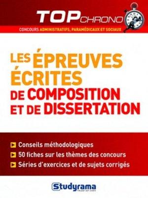 Les épreuves écrites de composition et de dissertation - Studyrama - 9782759016426 -