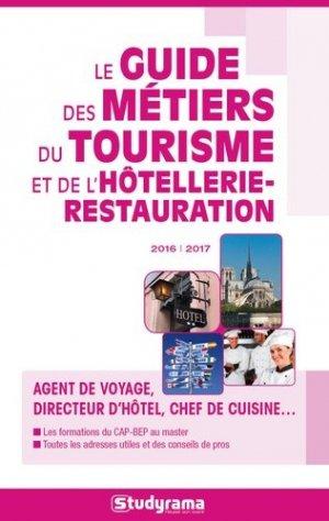 Le Guide des métiers du tourisme et de l'hôtellerie-restauration -studyrama-9782759032853