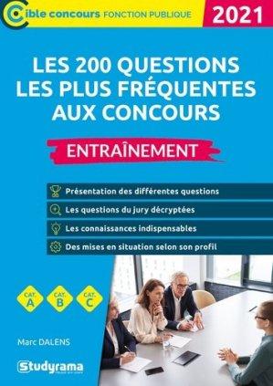 Les 200 questions les plus fréquentes aux concours  - Studyrama - 9782759045846 -