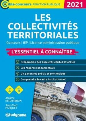 Les collectivités territoriales - Studyrama - 9782759045914 -
