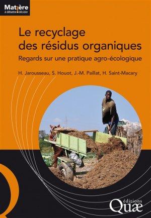 Le recyclage des résidus organiques - quae - 9782759225620 -