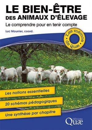 Le bien-être des animaux d'élevage - quae - 9782759232482 -