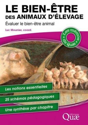 Le bien-être des animaux d'élevage - quae - 9782759233267 -