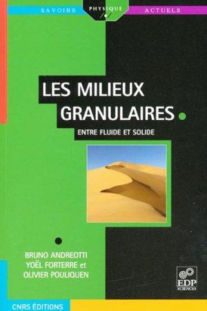Les milieux granulaires - edp sciences - 9782759800971 -