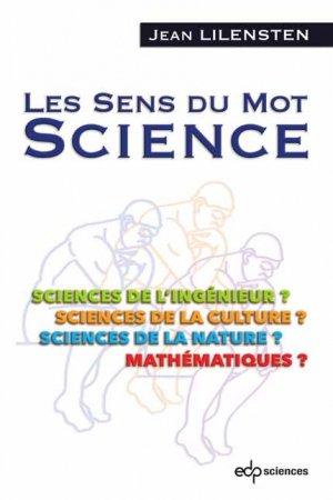 Les sens du mot Science - edp sciences - 9782759822348 -