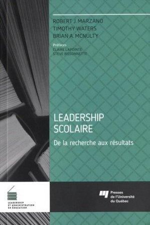 Leadership scolaire - Presses de l'Université du Québec - 9782760543157 -