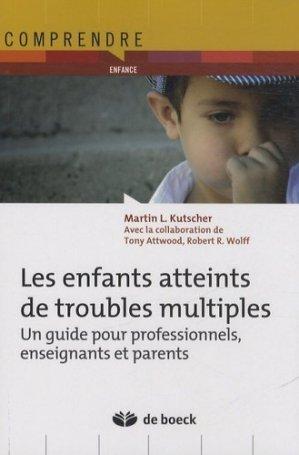 Les enfants atteints de troubles multiples - de boeck superieur - 9782804183257 -