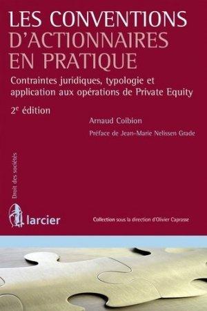 Les conventions d'actionnaires en pratique - Larcier - 9782804478599 -
