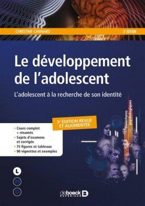 Le développement de l'adolescent - de boeck - 9782807320383 -