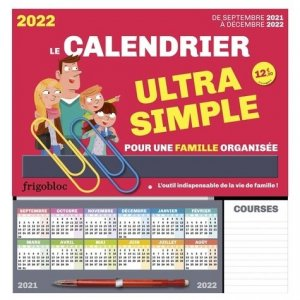 Le calendrier ultra simple - Play Bac - 9782809675283 -