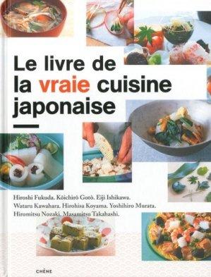 Le livre de la vraie cuisine japonaise - du chene - 9782812303562 -