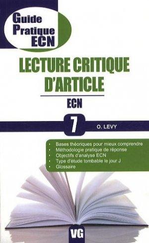 Lecture critique d'article - vernazobres grego - 9782818302071 -
