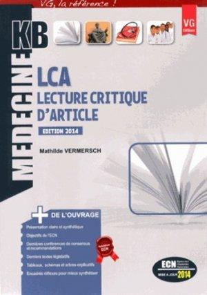 Lecture critique d'articles - vernazobres grego - 9782818310137 -