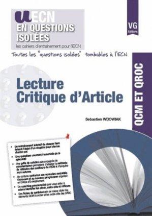 Lecture critique d'article - vernazobres grego - 9782818313213 -
