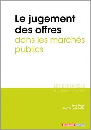 Le jugement des offres dans les marchés publics - territorial - 9782818616550 -