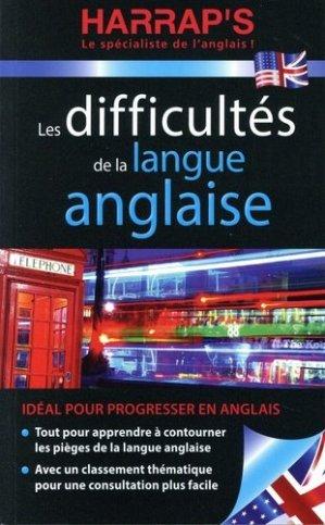 Les difficultés de la langue anglaise - harrap's - 9782818708095 -