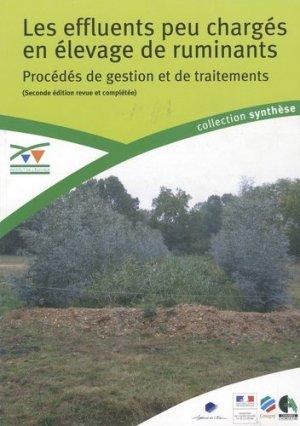 Les effluents peu chargés en élevage de ruminants Procédés de gestion et de traitements  - technipel / institut de l'elevage - 9782841483129 -