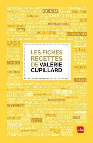 Les fiches recettes de Valérie Cupillard - la plage - 9782842215439 -