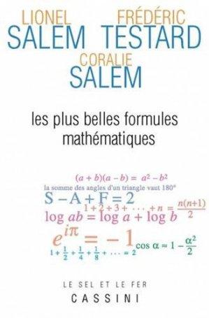Les plus belles formules mathématiques - cassini - 9782842252076 -