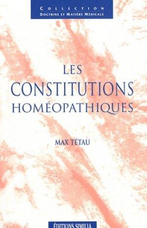 Les constitutions homéopathiques - similia - 9782842510398 -