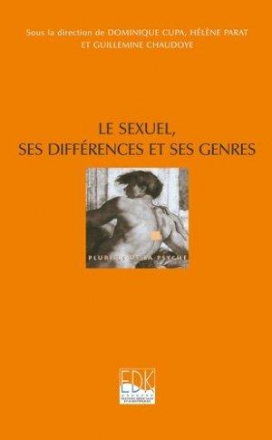 Le sexuel, ses différences et ses genres - edk - 9782842541606 -