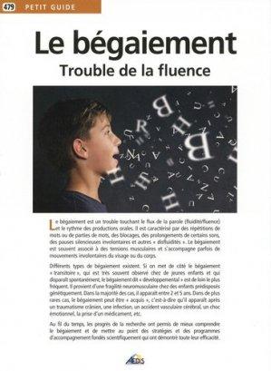 Le begaiement, trouble de la fluence - aedis - 9782842599805 -