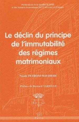 Le déclin du principe de l'immutabilité des régimes matrimoniaux - presses universitaires de limoges - 9782842873226 - https://fr.calameo.com/read/004967773b9b649212fd0