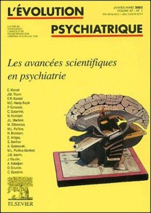 Les avancées scientifiques en psychiatrie - elsevier / masson - 9782842993795 -