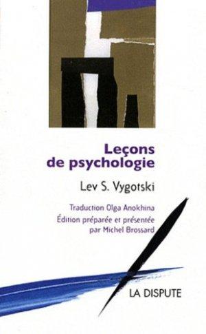 Leçons de psychologie - la dispute - 9782843032004 -