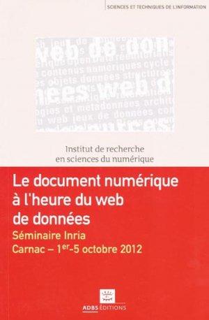 Le document numérique à l'heure du web de données - adbs - 9782843651427 -