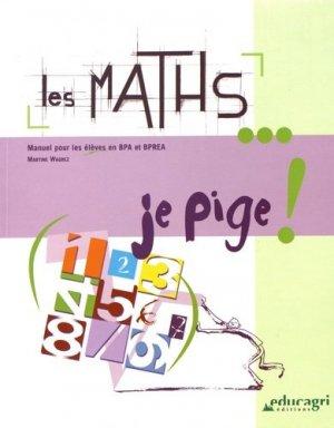 Les maths... je pige! - educagri - 9782844444493 -