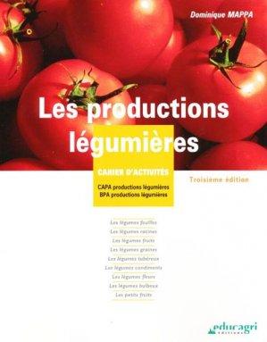 Les productions légumières - educagri - 9782844447937 -