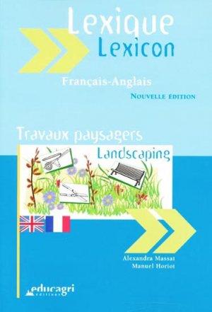 Lexique anglais-francais travaux paysagers (édition 2011) - educagri - 9782844448576 -
