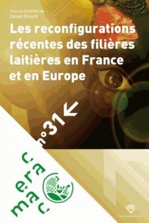 Les reconfigurations récentes des filières laitières en France et en Europe - presses universitaires blaise pascal - 9782845166165 -