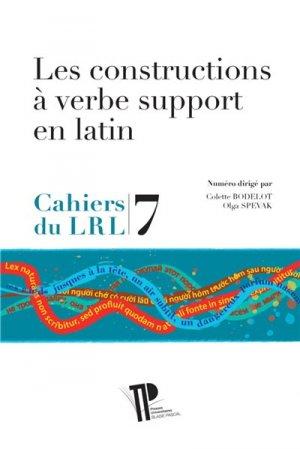 Les constructions à verbe support en latin - presses universitaires blaise pascal - 9782845168237