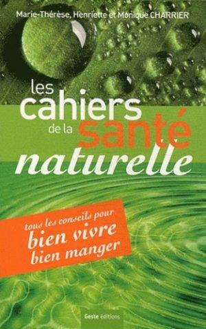 Les Cahiers de la santé naturelle - geste - 9782845618978 -