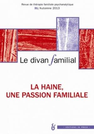 Le divan familial N° 31, Automne 2013 - in press - 9782848352688 -