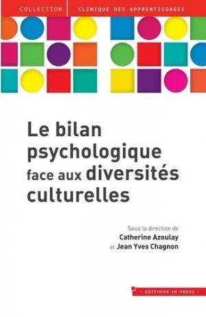 Le bilan psychologique face aux diversités culturelles - in press - 9782848355313 -