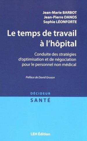 Le temps de travail à l'hôpital - les etudes hospitalieres - 9782848746104 -