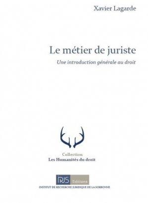 Le métier de juriste - irjs - 9782850020414 -