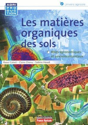 Les matières organiques des sols - france agricole - 9782855571829 -
