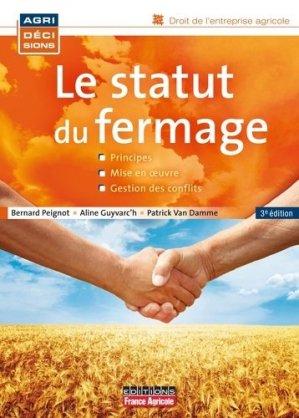 Le statut du fermage - france agricole - 9782855572482 -