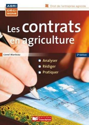Les contrats en agriculture - france agricole - 9782855572666 -
