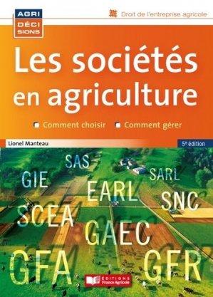 Les sociétés en agriculture - france agricole - 9782855576084 -